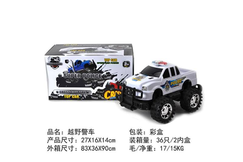 Friction car toys inertia toy Off-road police carNo.TA256385