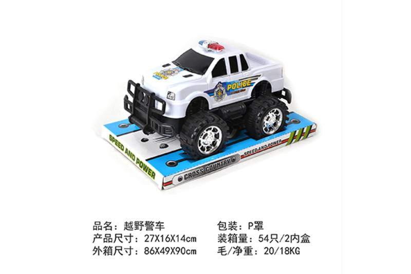 Friction car toys inertia toy Off-road police carNo.TA256386