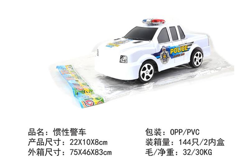 Friction car toys inertia toy police carNo.TA256388