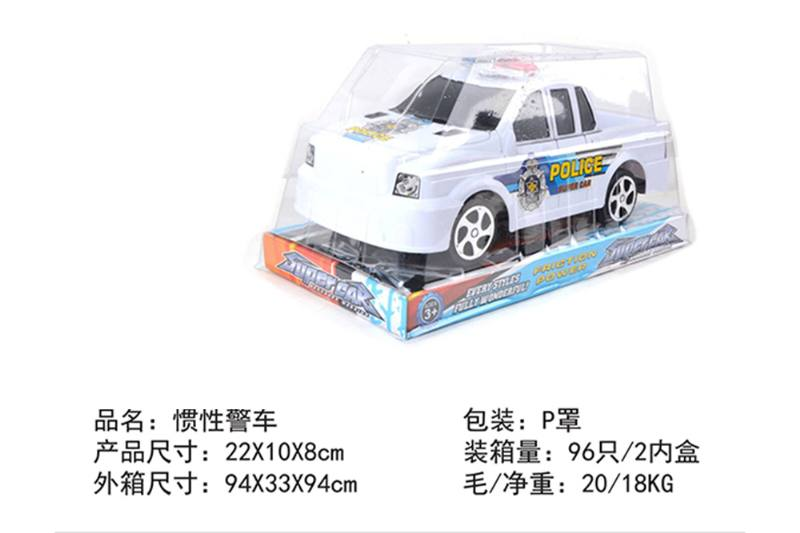 Friction car toys inertia toy police carNo.TA256389