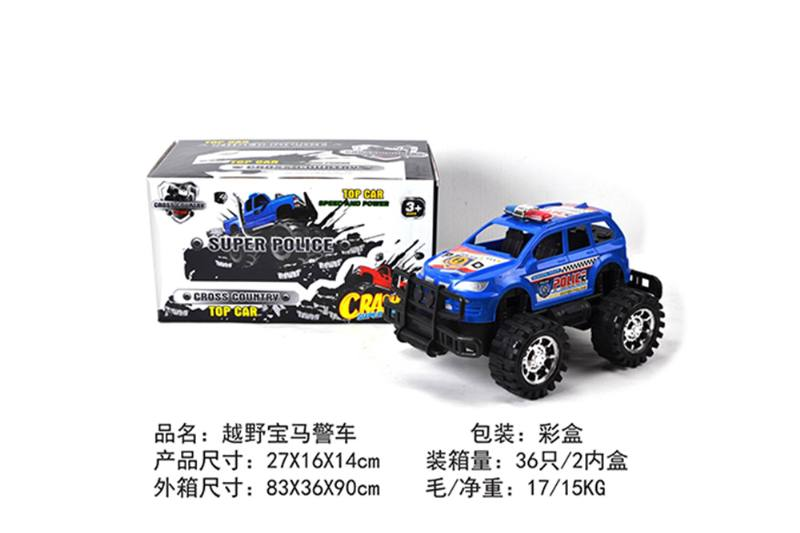 Friction car toys inertia toy Off-road police carNo.TA256403