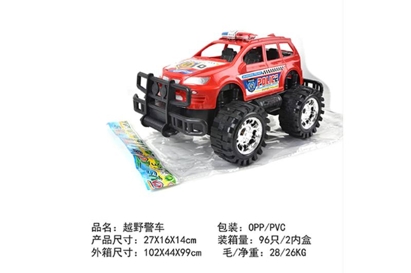 Friction car toys inertia toy Off-road police carNo.TA256405