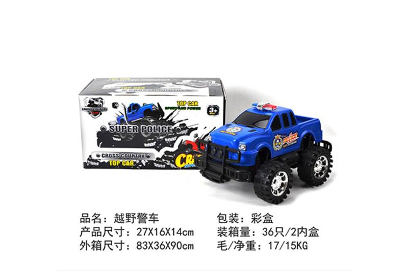 Friction car toys inertia toy Off-road police carNo.TA256406