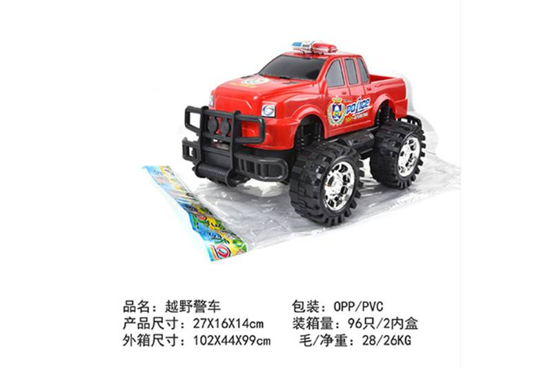 Friction car toys inertia toy Off-road police carNo.TA256407