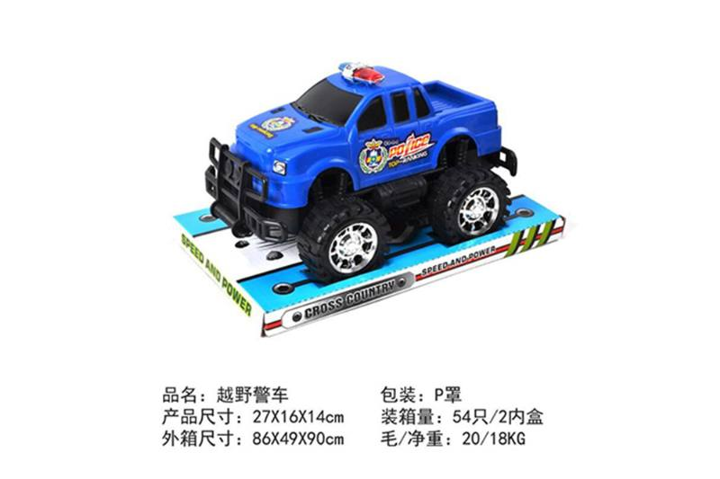 Friction car toys inertia toy Off-road police carNo.TA256408