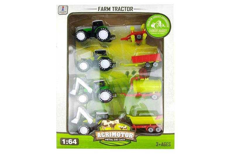 Alloy Toys Alloy Pull Back Farmer Car Set Pull Back Alloy Car No.TA252084