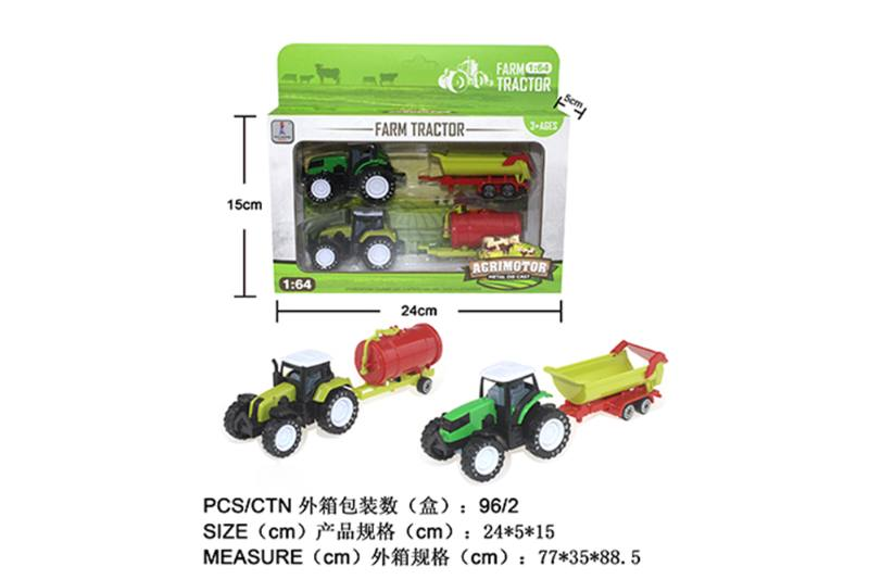 Alloy Toys Alloy Pull Back Farmer Car Set Pull Back Alloy Car No.TA252085
