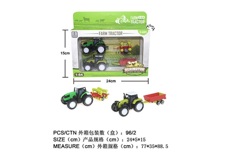 Alloy Toys Alloy Pull Back Farmer Car Set Pull Back Alloy Car No.TA252086