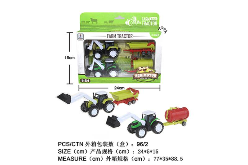Alloy Toys Alloy Pull Back Farmer Car Set Pull Back Alloy Car No.TA252087