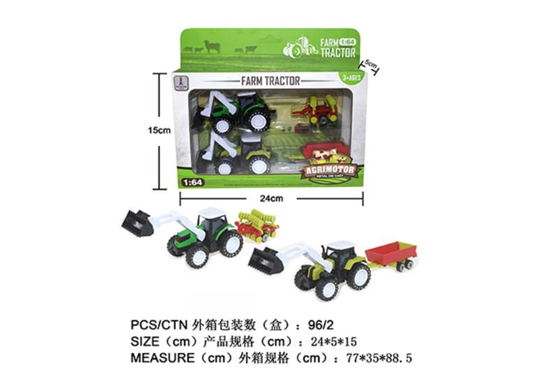 Alloy Toys Alloy Pull Back Farmer Car Set Pull Back Alloy Car No.TA252088