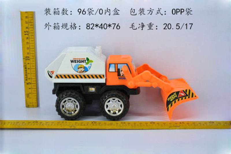 Inertial engineering toy vehicle Inertial environmental protection vehicle with shovel No.TA247834