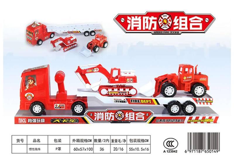 Inertial engineering vehicle toy inertia trailerNo.TA256413