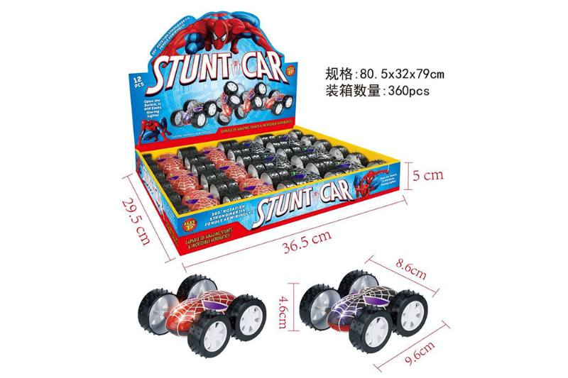 Double-sided car, spiderman, light double-sided car No.TA253772
