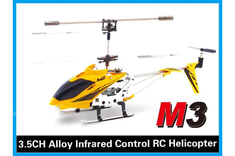 R/C plane helicopter quadcopter drone model 3.5 channel alloy with gyroscope infrared remo No.TA168477