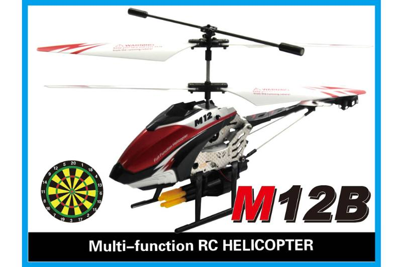 R/C plane helicopter quadcopter drone model 3.5 channel with gyro alloy bullet remote cont No.TA168486