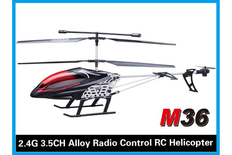 R/C plane helicopter quadcopter drone model 3.5 channel alloy with gyro remote control air No.TA168496