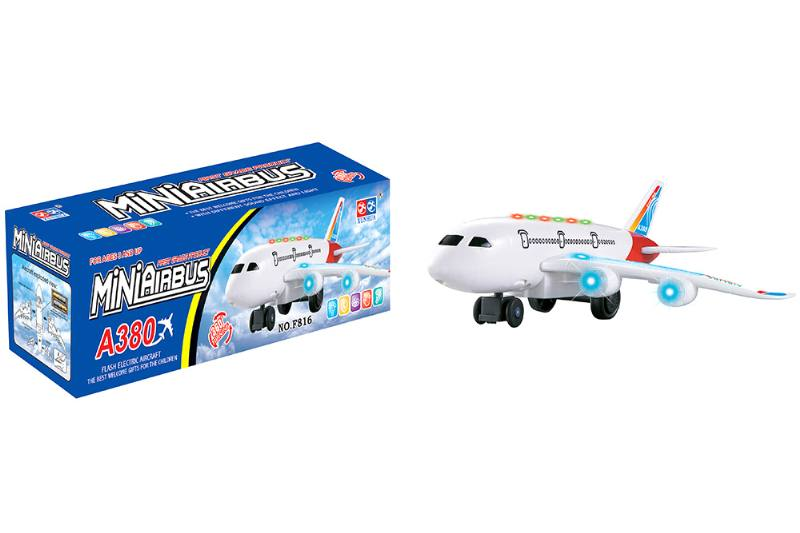 Electric aircraft plane toy Electric universal plane lighting passenger aircraft white spr No.TA216875