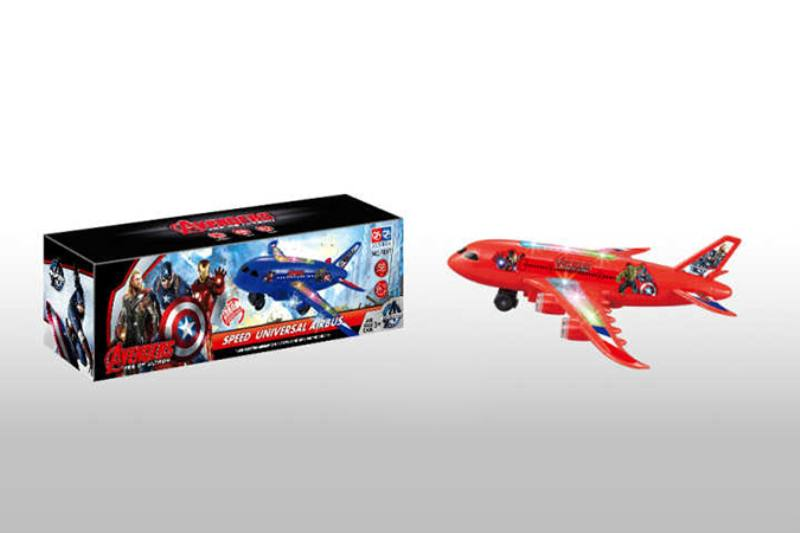 Electric aircraft plane toy Captain America Electric Universal Music Light Passenger Aircr No.TA218481