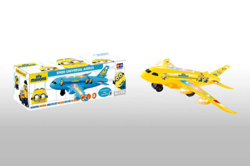 Electric aircraft plane toy Little yellow person electric universal music light passenger  No.TA218482