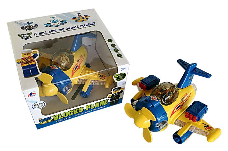 Electric aircraft plane toy LEGO type electric aircraft - can be used with Lego plastic pa No.TA223631