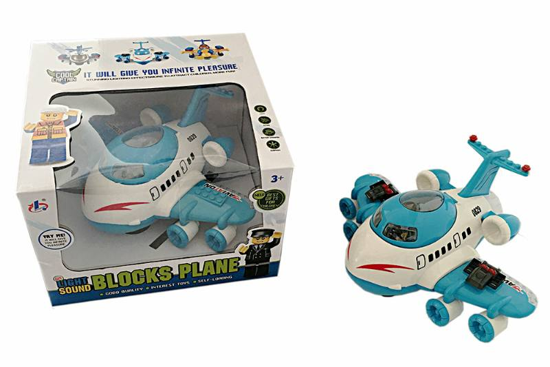 Electric aircraft plane toy LEGO type electric aircraft - can be used with Lego plastic pa No.TA223632