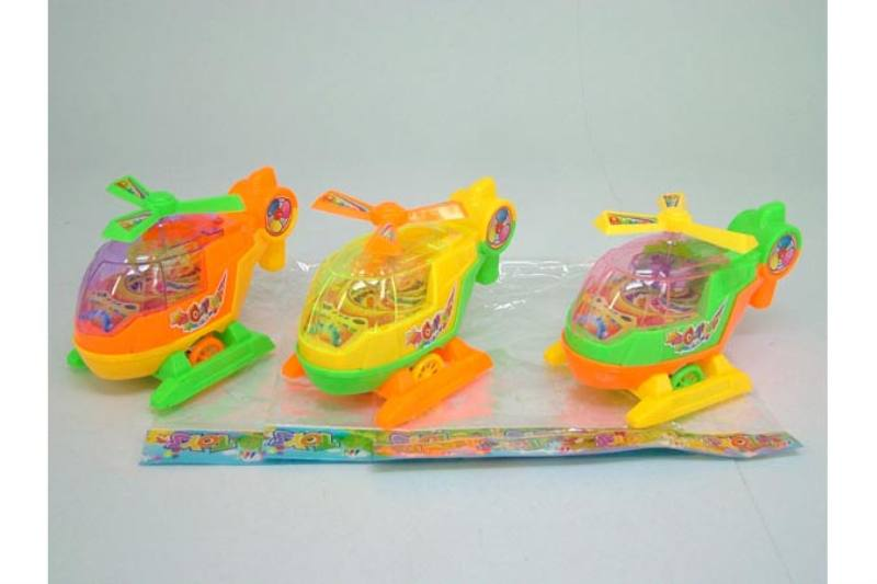 Pull line cartoon toy Pull line helicopter with light 3 Color mixing No.TA236757