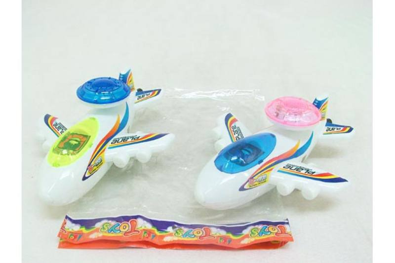 Pull line cartoon toy Pull line aircraft with lights White No.TA236758