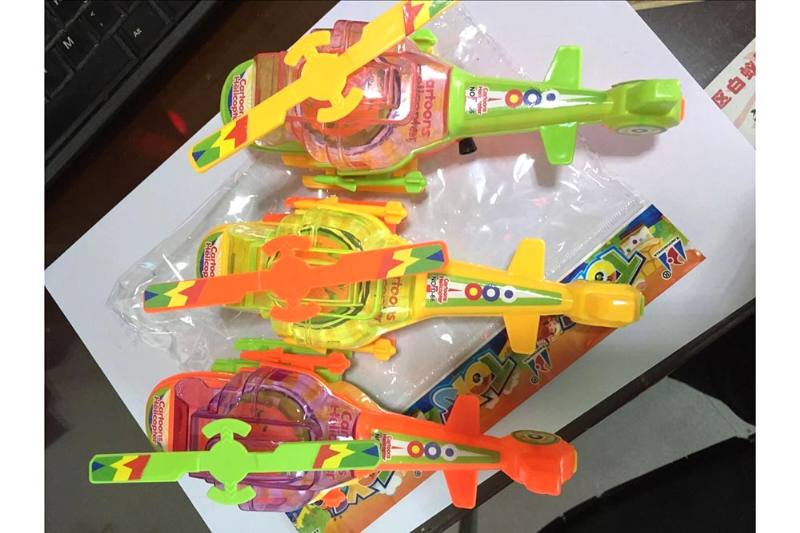Pull line cartoon toy Pull line plane with lights No.TA236761