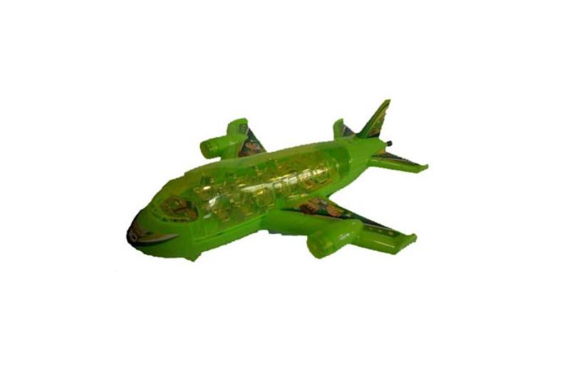 Pull line cartoon toy Pull line plane with lights green No.TA236763