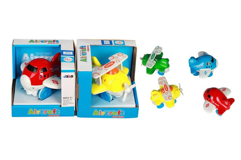 Mini Alloy Inertial Cartoon Airplane 2 4 Color Mixed Pack Single Pack No.TA237551