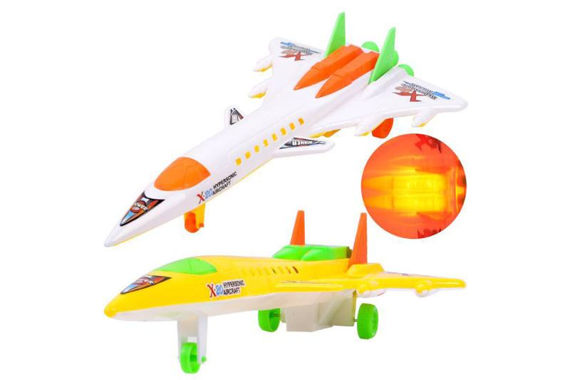 Solid color line supersonic fighter with light No.TA252176