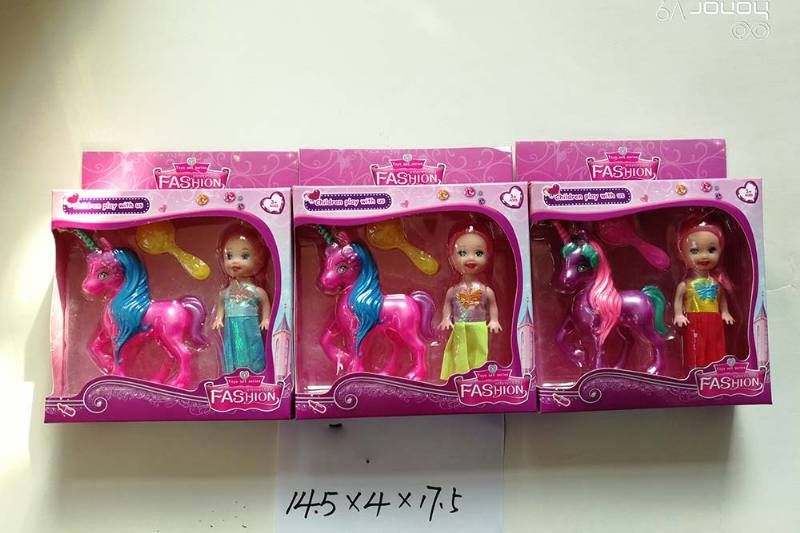 3.5 inch horse and angel Barbie doll toys No.TA256744