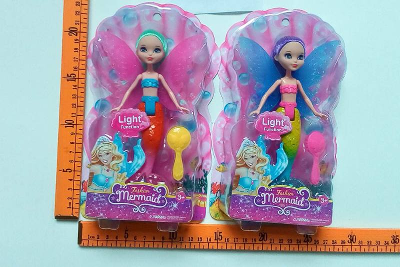 8 inch Mermaid Barbie doll toys with lights No.TA256819