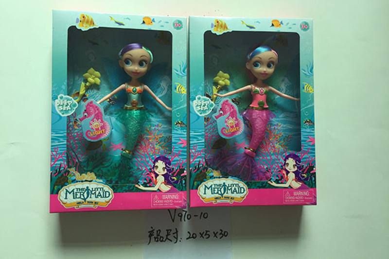 9 inch Mermaid Barbie doll toys with lights No.TA256836