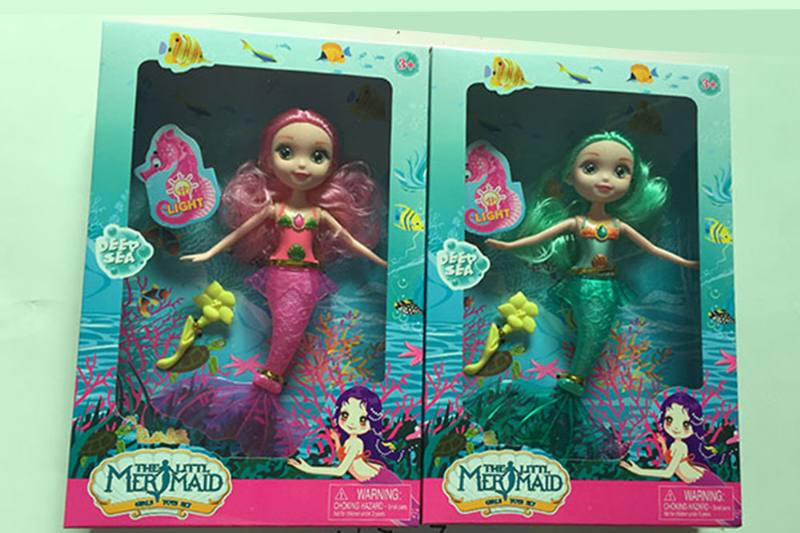 9 inch Mermaid Barbie doll toys with lights No.TA256842