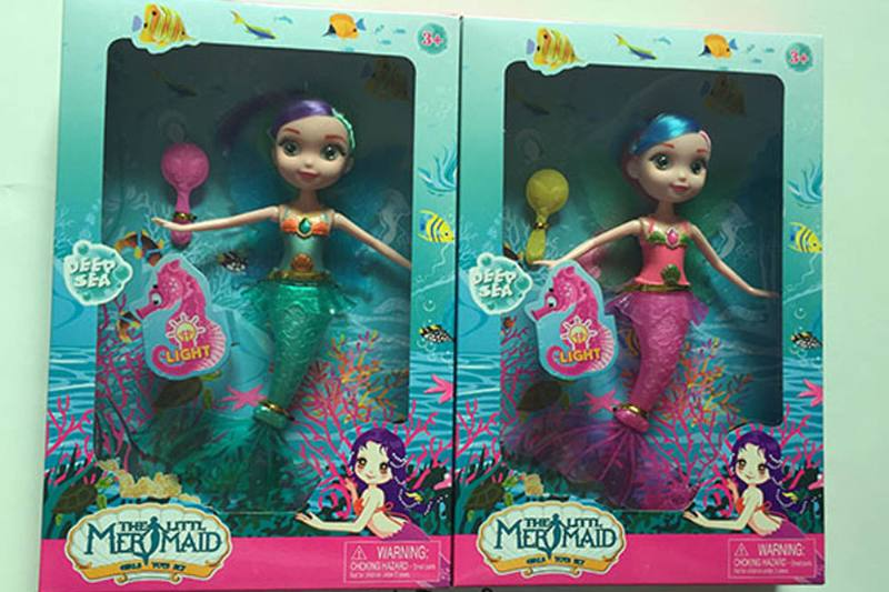 9 inch Mermaid Barbie doll toys with lights No.TA256843