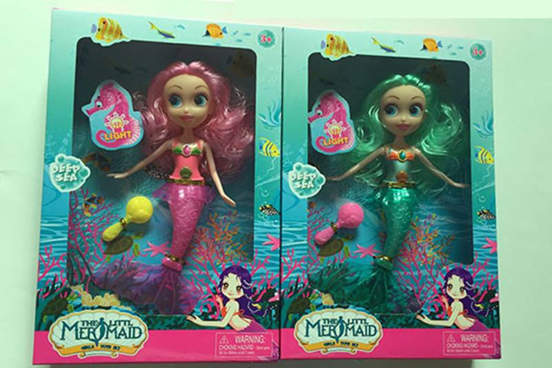 9 inch Mermaid Barbie doll toys with lights No.TA256844