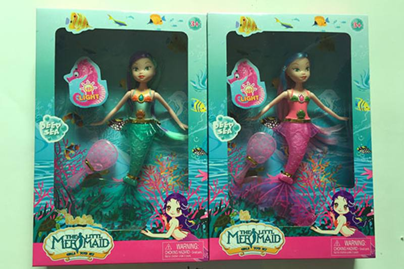 9 inch Mermaid Barbie doll toys with lights No.TA256846