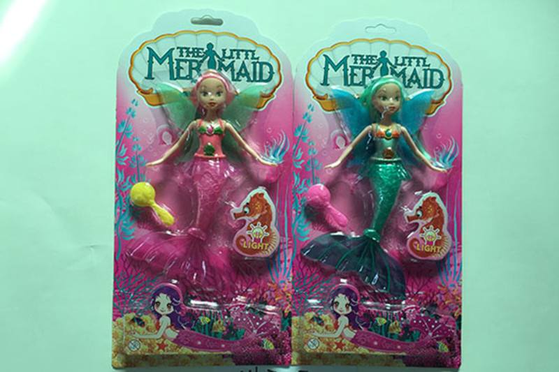 9 inch Mermaid Barbie doll toys with lights No.TA256852
