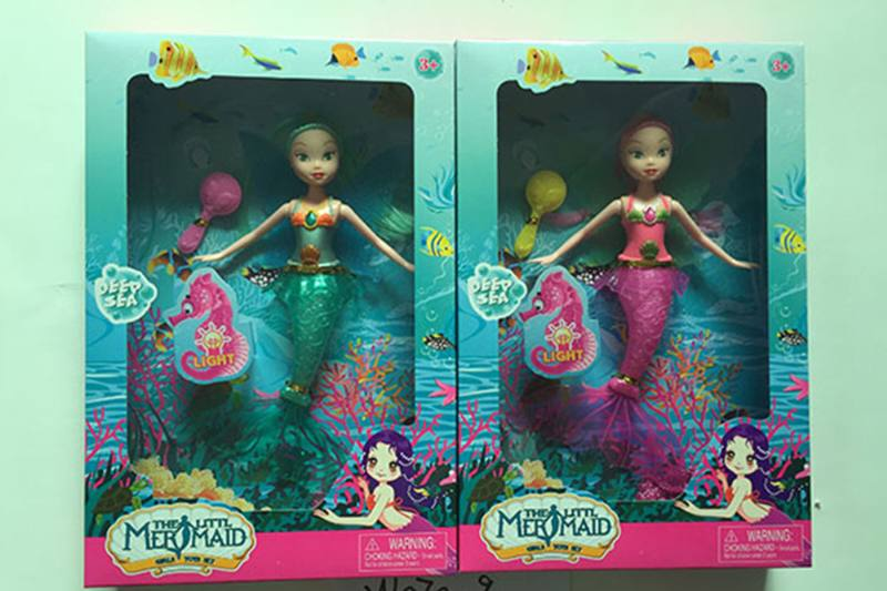 9 inch Mermaid Barbie doll toys with lights No.TA256854