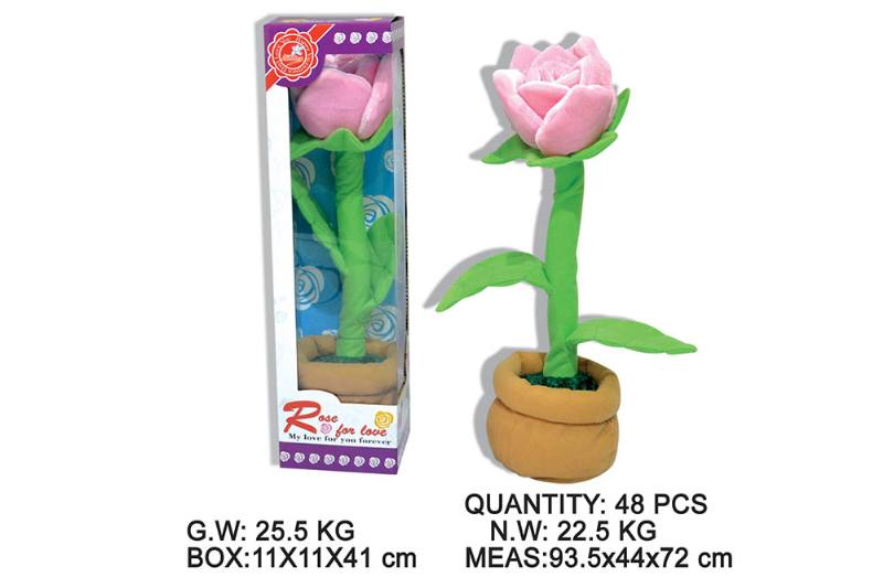 Layout cartoon flower toy Electric dancing flower with music No.TA202341