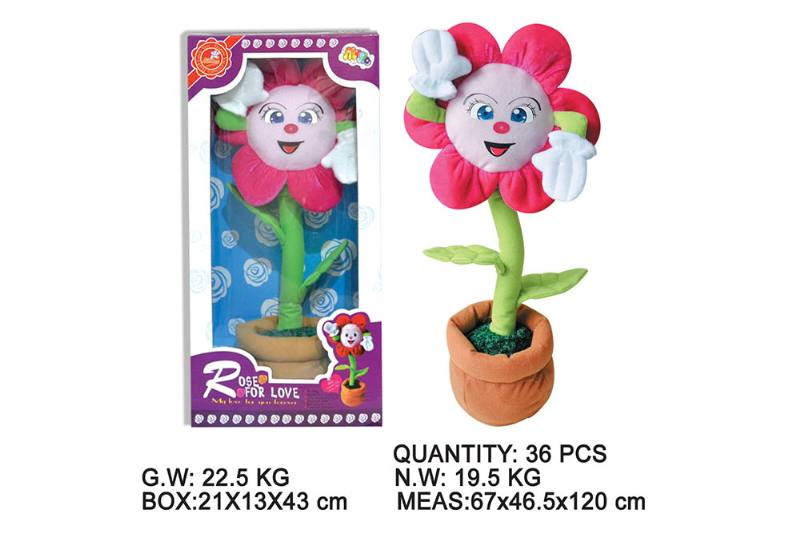 Layout cartoon flower toy Electric dancing flower with music No.TA202343