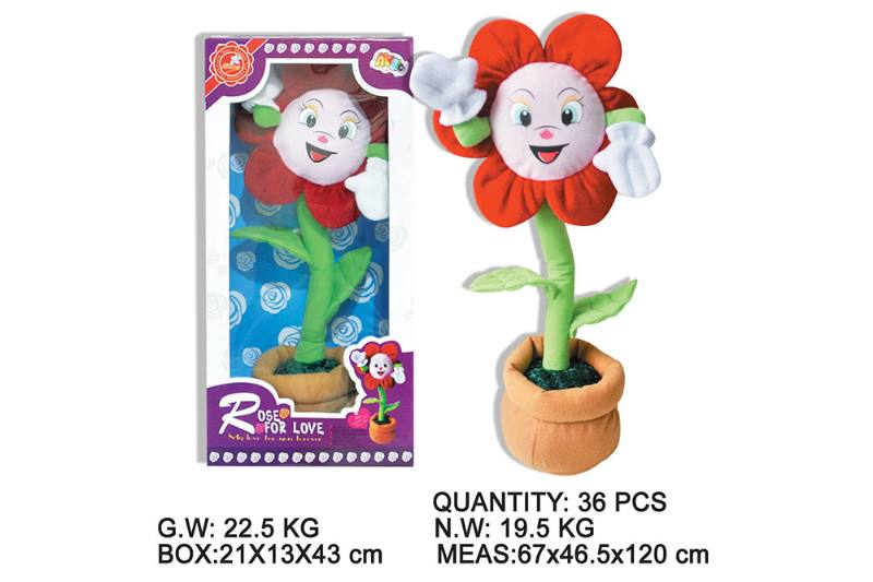 Layout cartoon flower toy Electric dancing flower with music No.TA202344