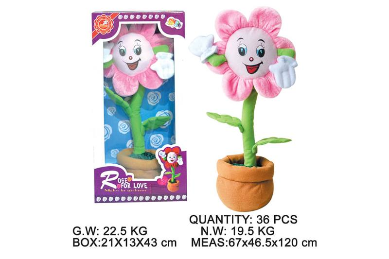 Layout cartoon flower toy Electric dancing flower with music No.TA202345