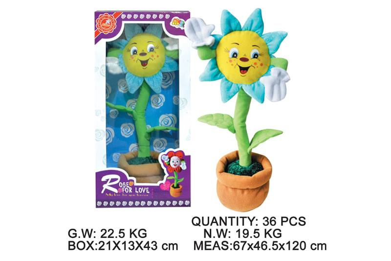 Layout cartoon flower toy Electric dancing flower with music No.TA202346