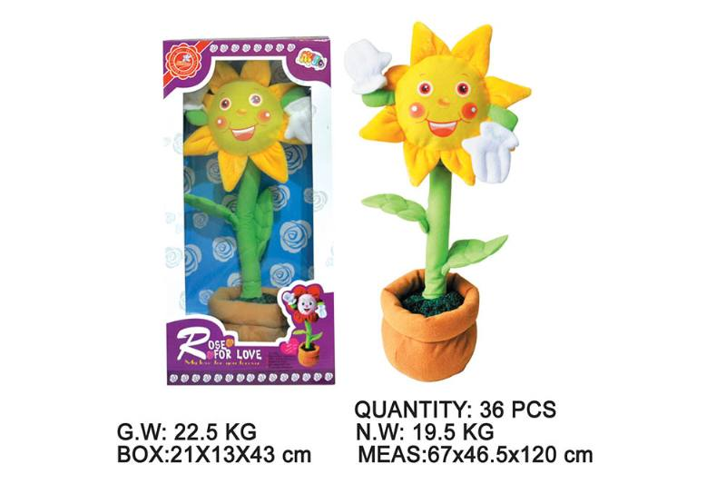 Layout cartoon flower toy Electric dancing flower with music No.TA202348