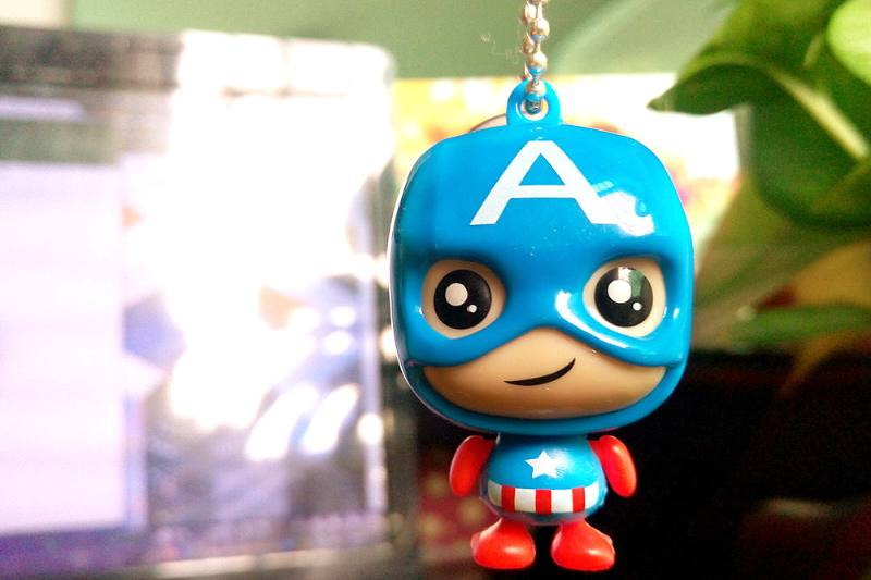 Cartoon phone holder toys Captain phone holder pendant (with gold beads chain) 4 mixed No.TA213636