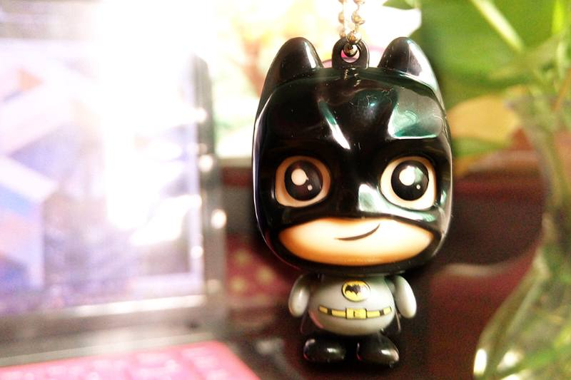Cartoon phone holder toys Batman phone holder pendant (with gold beads chain) 4 mixed No.TA213637