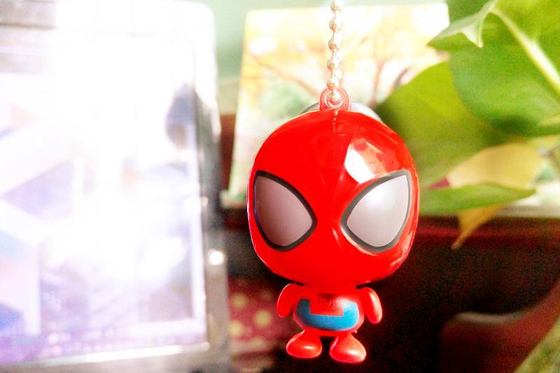 Cartoon phone holder toys Spider-Man mobile phone holder pendant (with gold beads chain) 4 No.TA213639