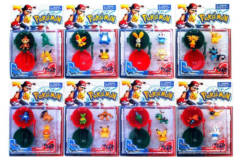 Barbie Doll Accessories Toys 2-inch Pokémon Go Wizard 3pcs 7cm Keychain Elf Ball 8 Finishe No.TA214821